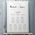 Personalised Wedding Seating Plan